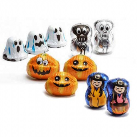 Luxury Halloween Figures - Milk & Dark Chocolate Filled Pralines La Suissa Italian Gift Bag 100g